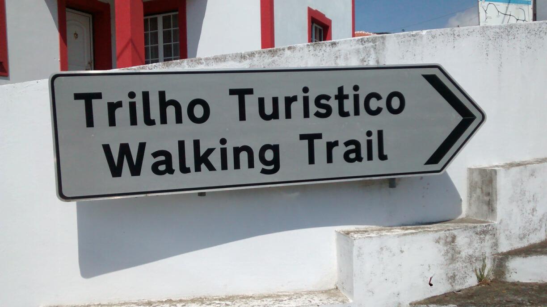 Walking trail sign